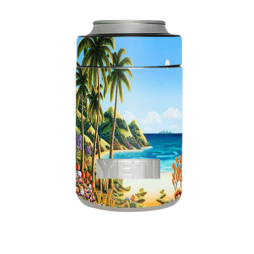 Beach Water Palm Trees Yeti Rambler Colster Skin