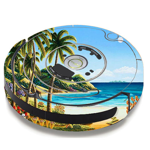 Beach Water Palm Trees iRobot Roomba 650/655 Skin