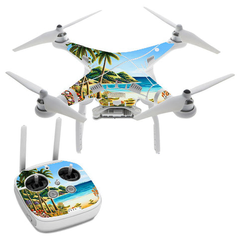 Beach Water Palm Trees DJI Phantom 3 Professional Skin