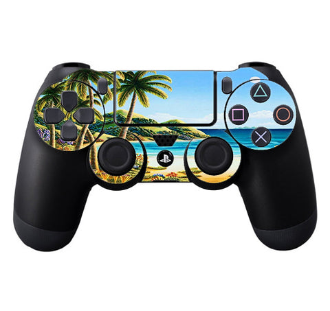 Beach Water Palm Trees Sony Playstation PS4 Controller Skin