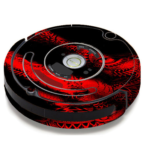 Aztec Lion Red iRobot Roomba 650/655 Skin