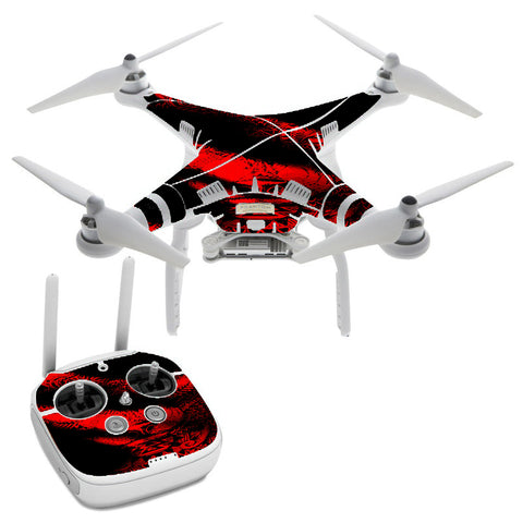 Aztec Lion Red DJI Phantom 3 Professional Skin