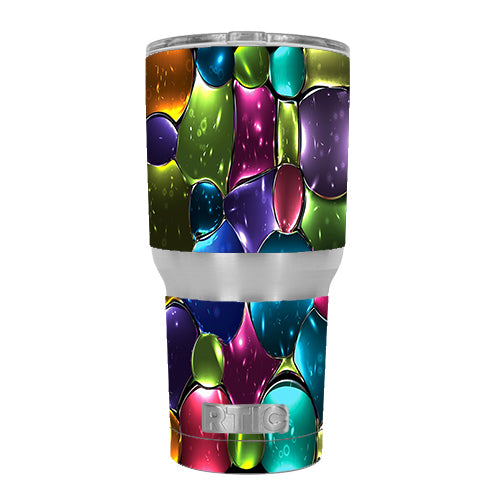 Stained Glass Bubbles RTIC 30oz Tumbler Skin