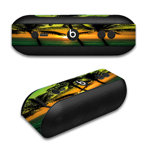 Sunset Palm Trees Ocean Beats by Dre Pill Plus Skin