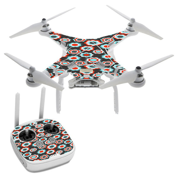 Retro Flowers DJI Phantom 3 Professional Skin