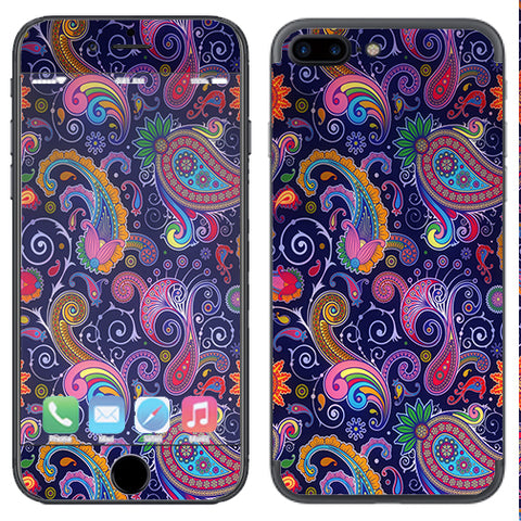 Purple Paisley Apple  iPhone 7+ Plus / iPhone 8+ Plus Skin