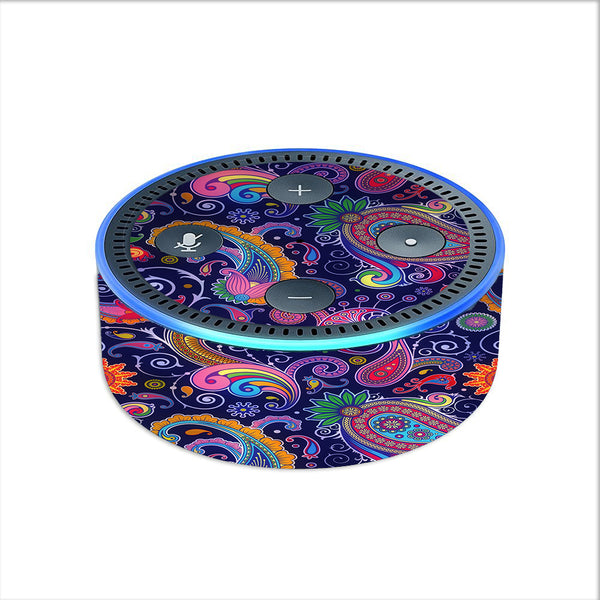 Purple Paisley Amazon Echo Dot 2nd Gen Skin