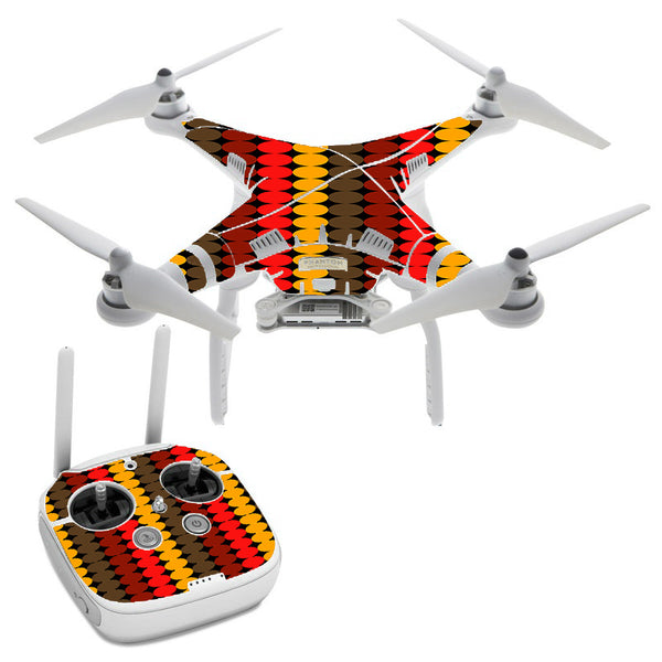 Circles Retro Pattern DJI Phantom 3 Professional Skin