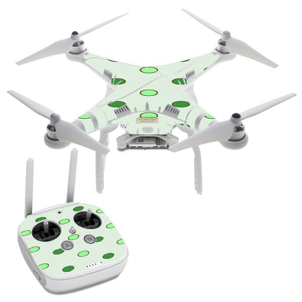 Green Polka Dots DJI Phantom 3 Professional Skin