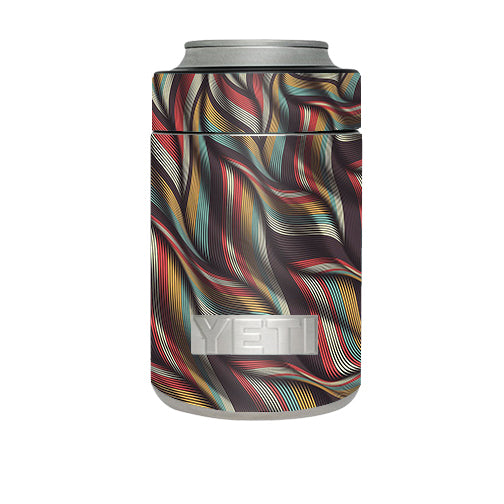 Textured Waves Weave Yeti Rambler Colster Skin