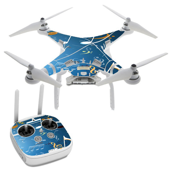 Flying Music Notes DJI Phantom 3 Professional Skin