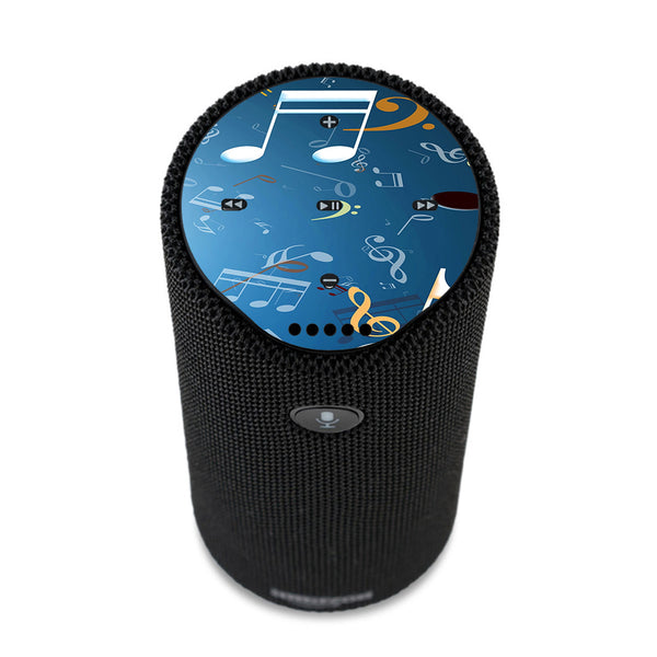 Flying Music Notes Amazon Tap Skin