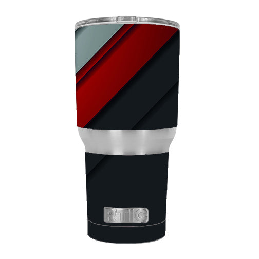 Modern Patterns Red RTIC 30oz Tumbler Skin