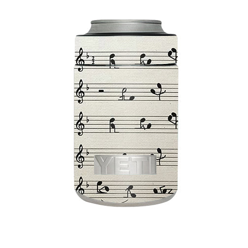 Music Notes Song Page Yeti Rambler Colster Skin