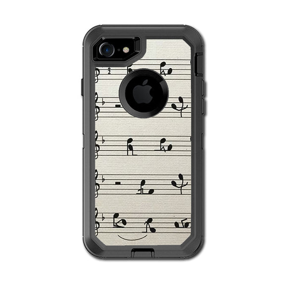 huge discount 53b39 e9233 Music Notes Song Page Otterbox Defender iPhone 7 or iPhone 8 Skin