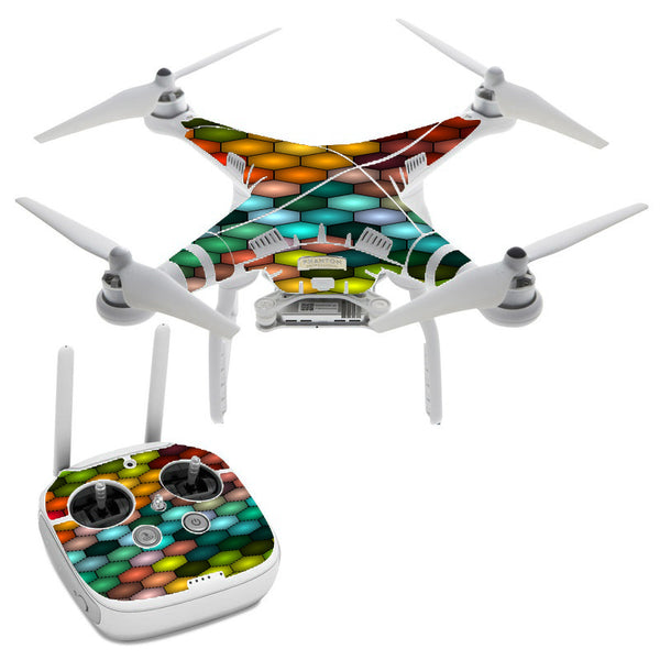 Vector Abstract Honeycomb DJI Phantom 3 Professional Skin