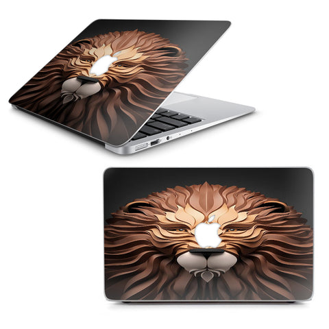 "3D Lion Macbook Air 13"" A1369 A1466 Skin"