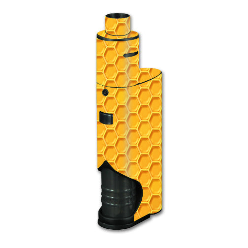 Yellow Honeycomb Kangertech dripbox Skin