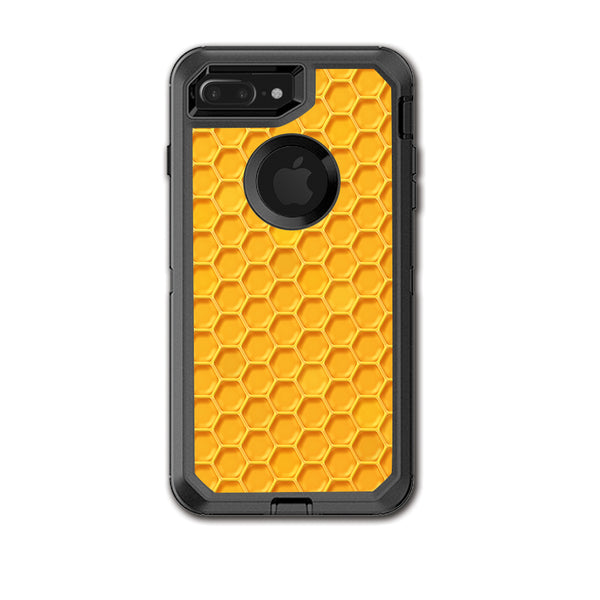 new styles b1403 ee2b7 Yellow Honeycomb Otterbox Defender iPhone 7+ Plus or iPhone 8+ Plus Skin