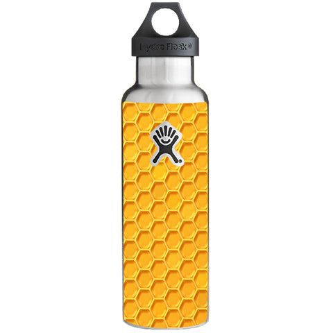 Yellow Honeycomb Hydroflask 21oz Skin
