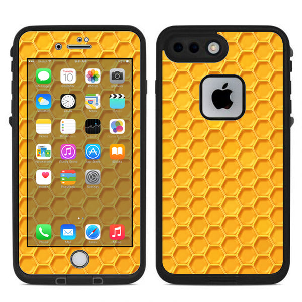 newest 777cd 81e9d Yellow Honeycomb Lifeproof Fre iPhone 7 Plus or iPhone 8 Plus Skin