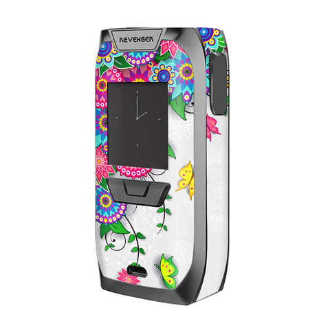 Flowers Colorful Design Vaporesso Revenger Skin