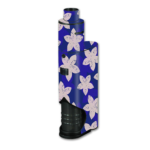 Flowered Blue Kangertech dripbox Skin