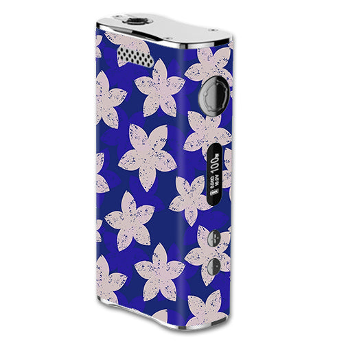 Flowered Blue eLeaf iStick 100W Skin