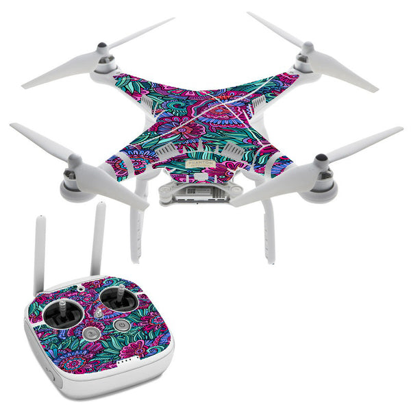 Floral Flowers Retro DJI Phantom 3 Professional Skin