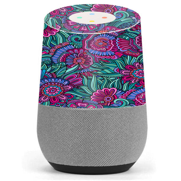 Floral Flowers Retro Google Home Skin