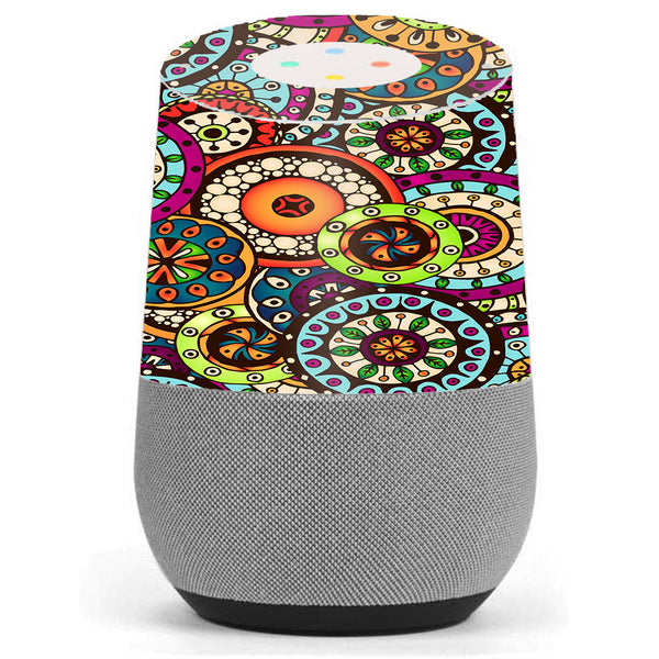 Ethnic Circles Pattern Google Home Skin