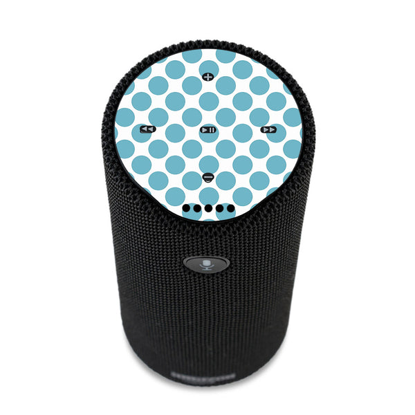 Teal Blue Polka Dots Amazon Tap Skin