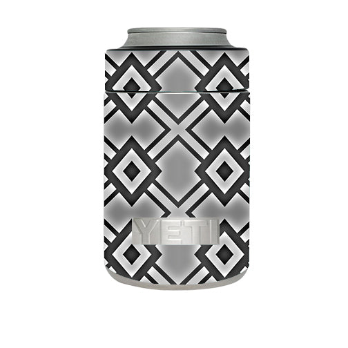Diamond Grey Pattern Yeti Rambler Colster Skin