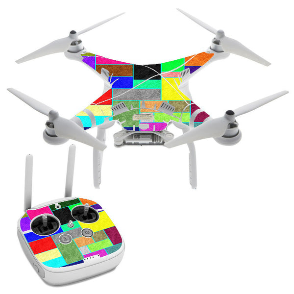 Colorful Squares DJI Phantom 3 Professional Skin