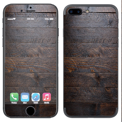 detailed look a17ed c074c Wooden Wall Pattern Apple iPhone 7+ Plus / iPhone 8+ Plus Skin