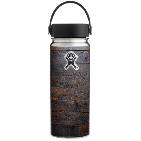 Wooden Wall Pattern Hydroflask 18oz Wide Mouth Skin