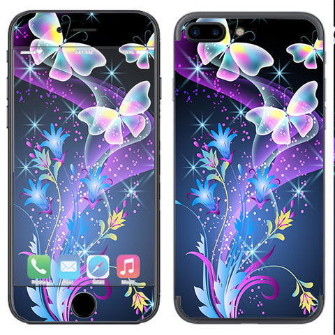 Glowing Butterflies In Flight Apple  iPhone 7+ Plus / iPhone 8+ Plus Skin
