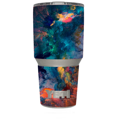 Color Storm Watercolors Yeti 30oz Rambler Tumbler Skin