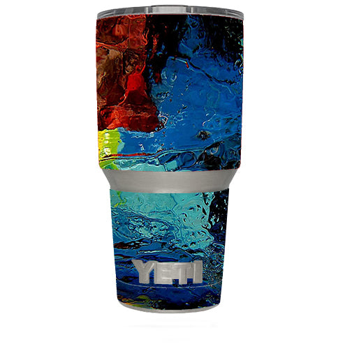 Oil Paint Color Scheme Yeti 30oz Rambler Tumbler Skin