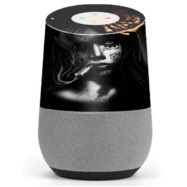 Dark Rose Tattoo Girl Google Home Skin