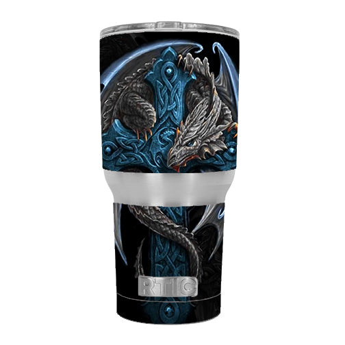 Dragon On Cross RTIC 30oz Tumbler Skin