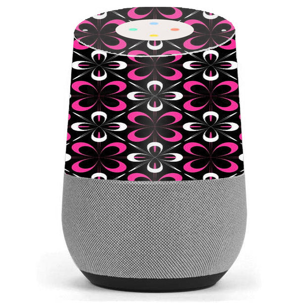 Abstract Pink Black Pattern Google Home Skin