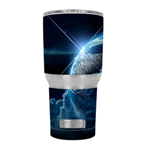 Earth Wrapped In Clouds RTIC 30oz Tumbler Skin