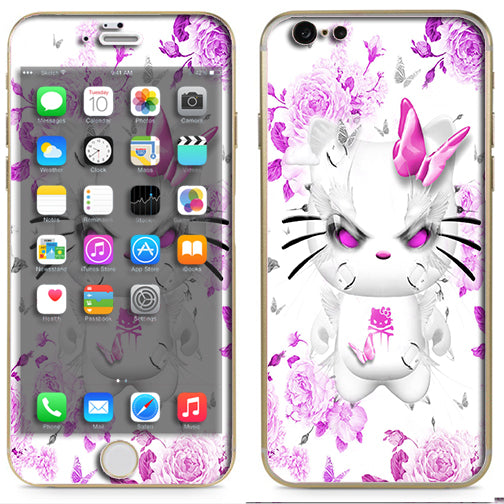 innovative design 4bbad daec9 Mean Kitty In Pink Apple iPhone 6 Skin