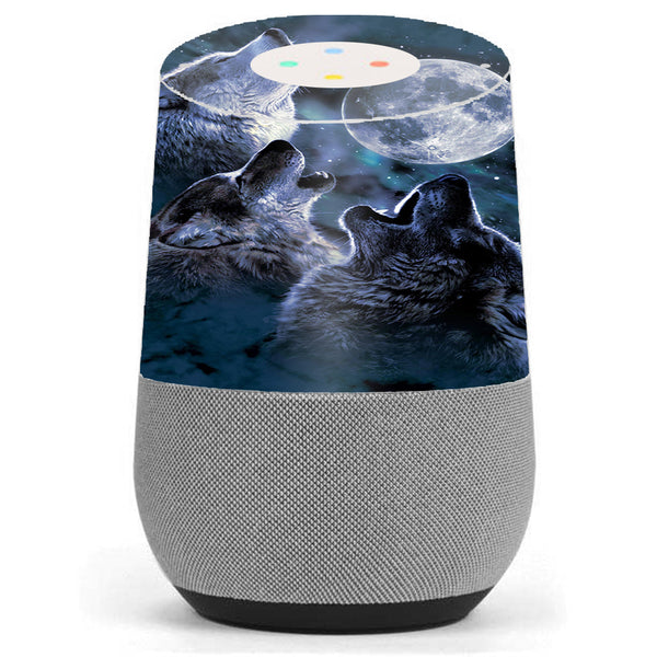 Terrific Howling Wolves At Moon Google Home Skin Gmtry Best Dining Table And Chair Ideas Images Gmtryco
