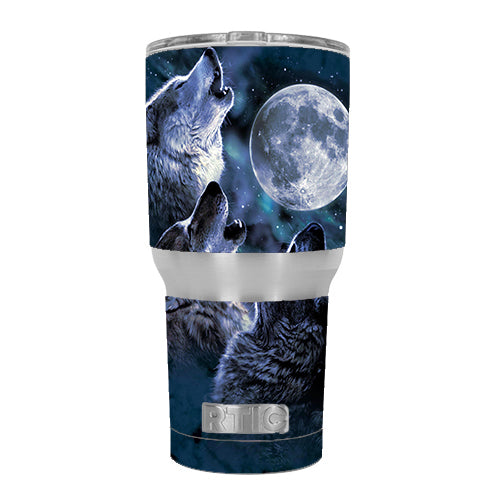 Howling Wolves At Moon RTIC 30oz Tumbler Skin