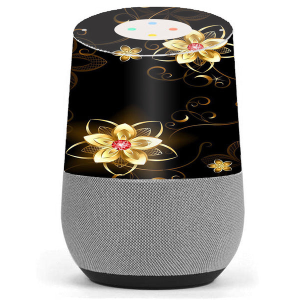 Glowing Flowers Abstract Google Home Skin