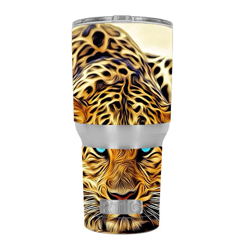 Leopard With Blue Eyes RTIC 30oz Tumbler Skin