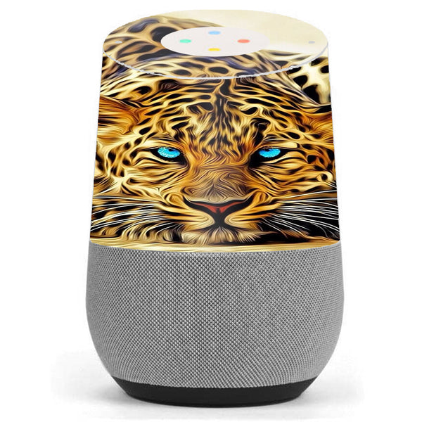 Leopard With Blue Eyes Google Home Skin