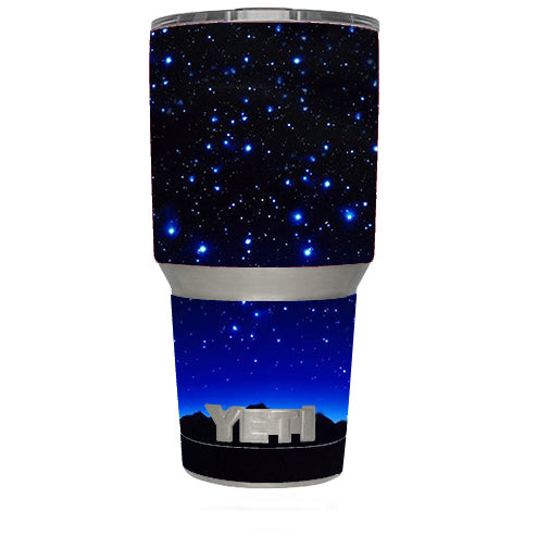 Stars Over Glowing Sky Yeti 30oz Rambler Tumbler Skin